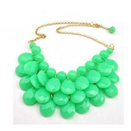 women fashion green Water drop Bubb..