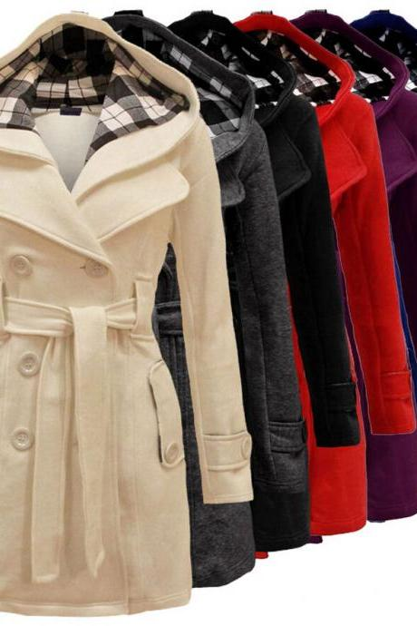 Fashion Womens Warm Winter Hooded Long Section Jacket Outwear Coat