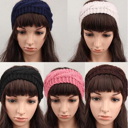 Knitted Winter Ear Warmer Hairwrap Women Crochet Turban Headband